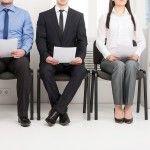 Kandidaten op zoek naar werk met een CV